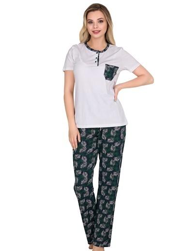 Sensu Kadın Pijama Takımı Kısa Kollu Pj3006 Renkli
